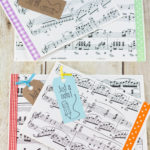 DIY Just a Note Sheet Music Greeting Card Tutorial