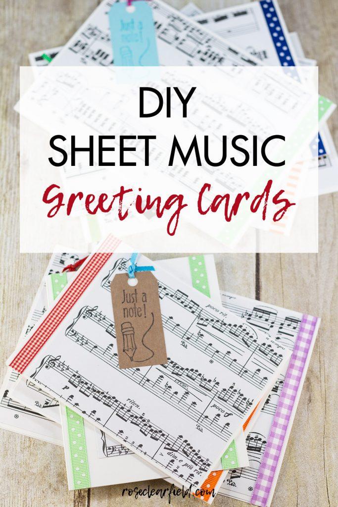 DIY Sheet Music Greeting Cards