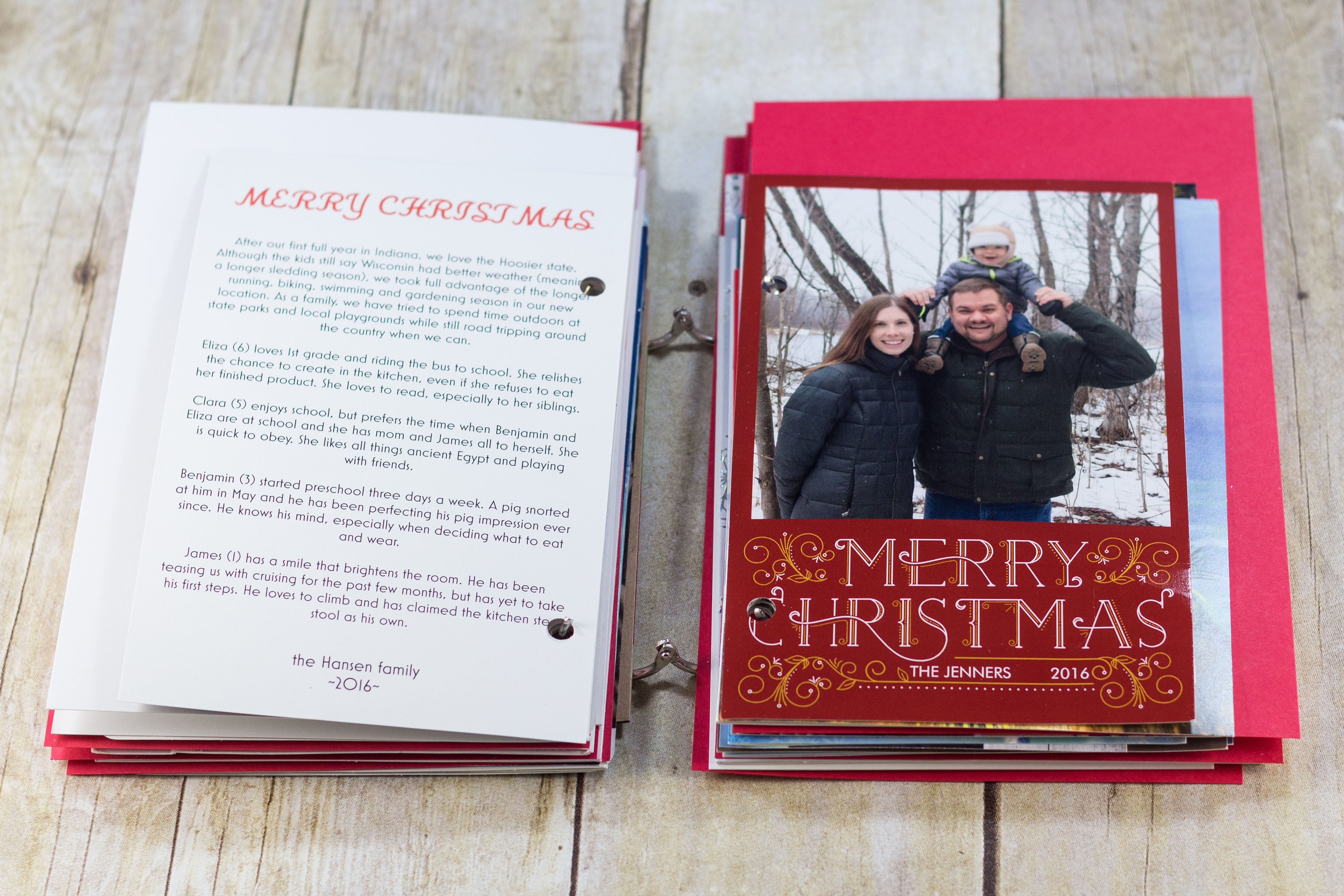 DIY Upcycled Christmas Card Books | https://www.roseclearfield.com