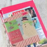 DIY Upcycled Christmas Card Books