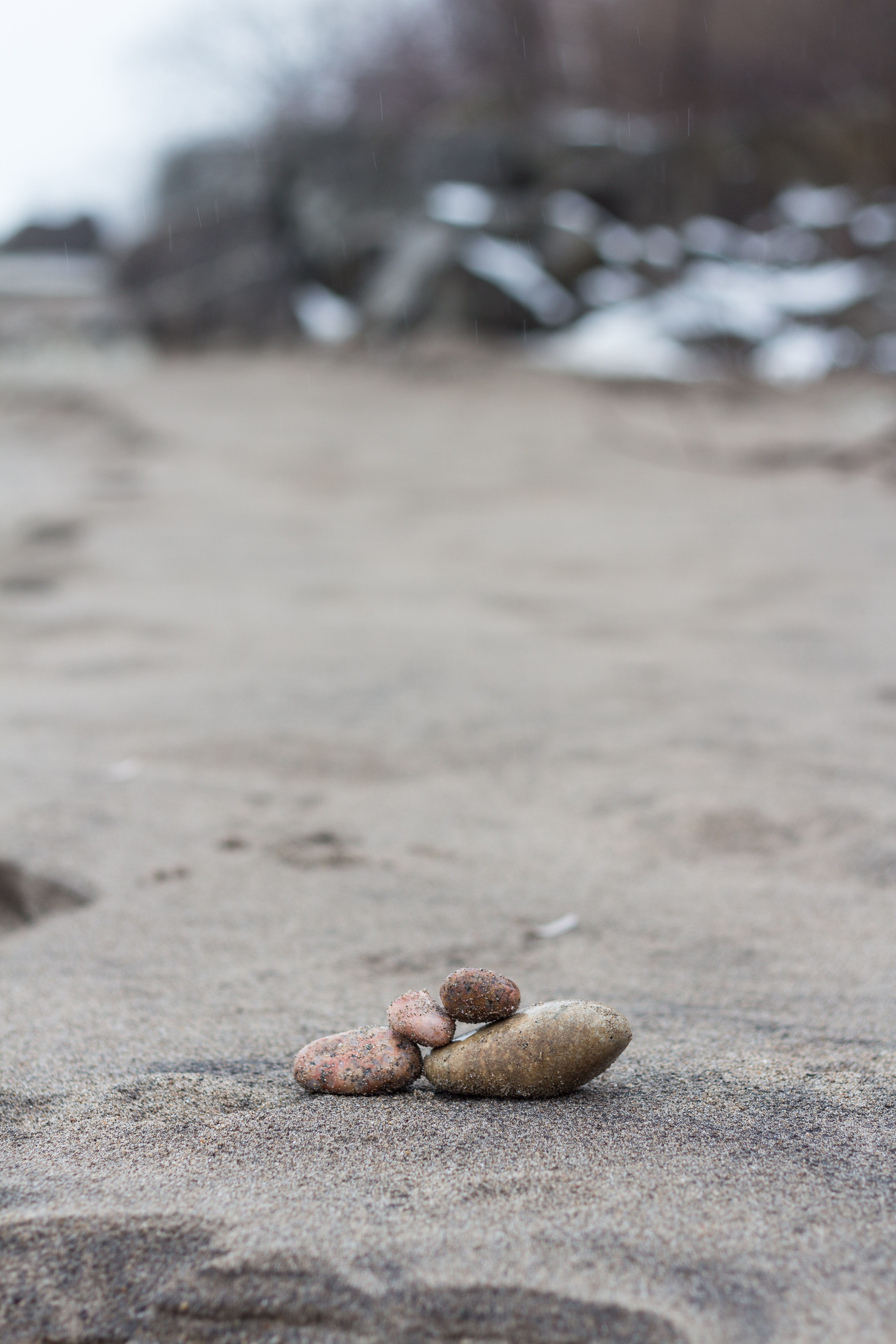 Rock Cairn on the Beach | https://www.roseclearfield.com