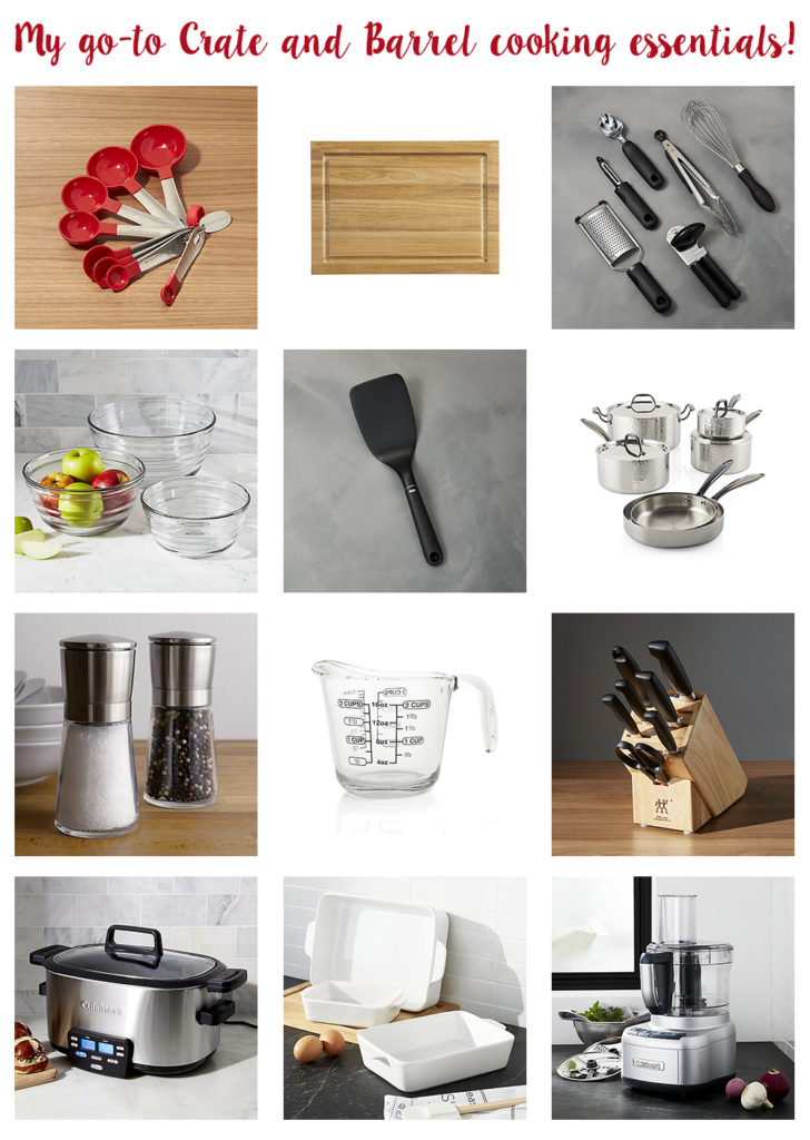 My Go-To Crate and Barrel Cooking Essentials! | https://www.roseclearfield.com