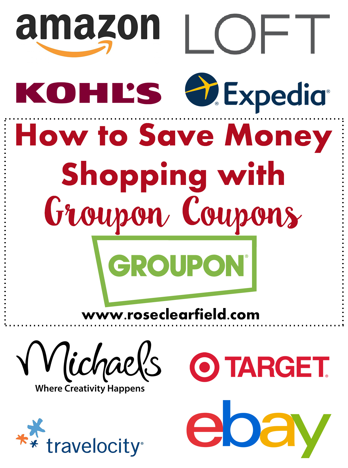 How to Save Money Shopping With Groupon Coupons | https://www.roseclearfield.com