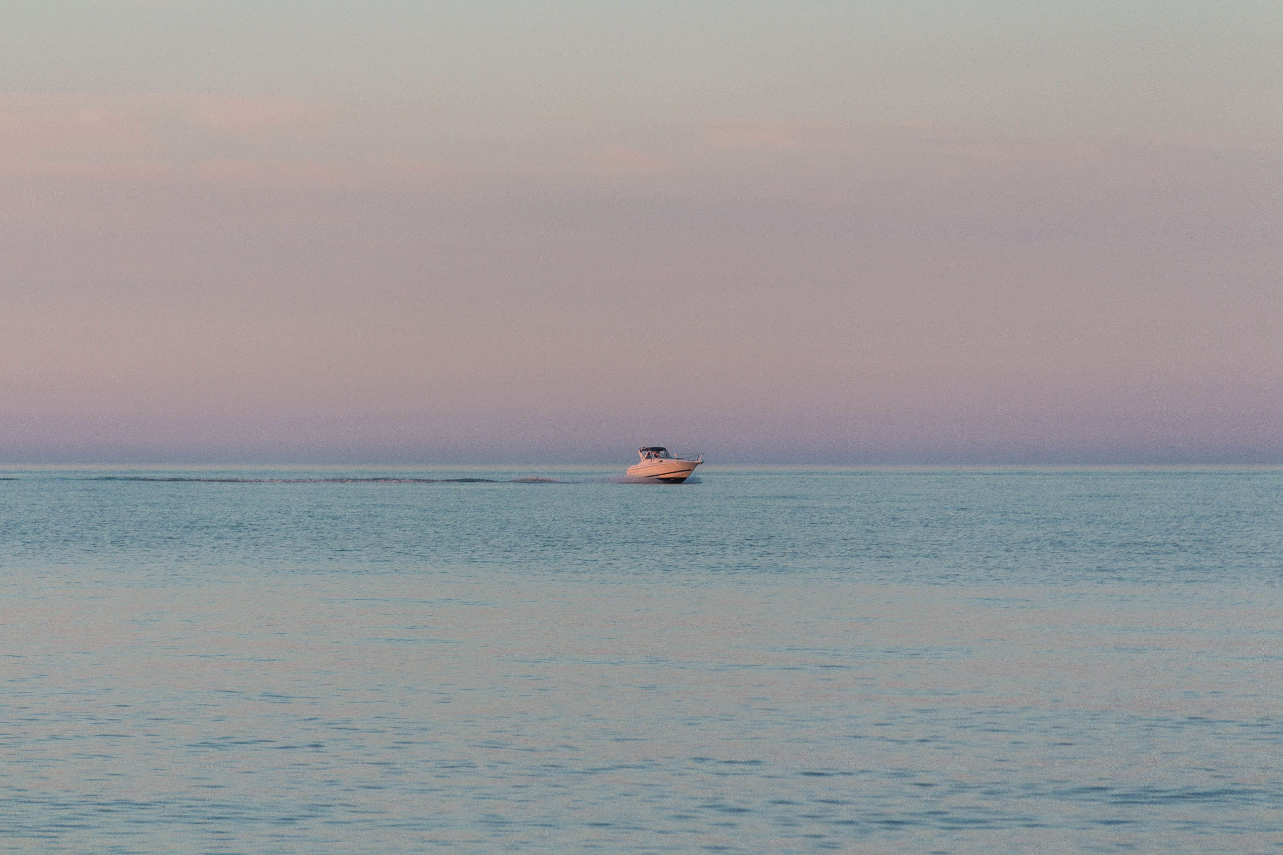 Boat on Lake Michigan at Golden Hour 6.24.16 | https://www.roseclearfield.com