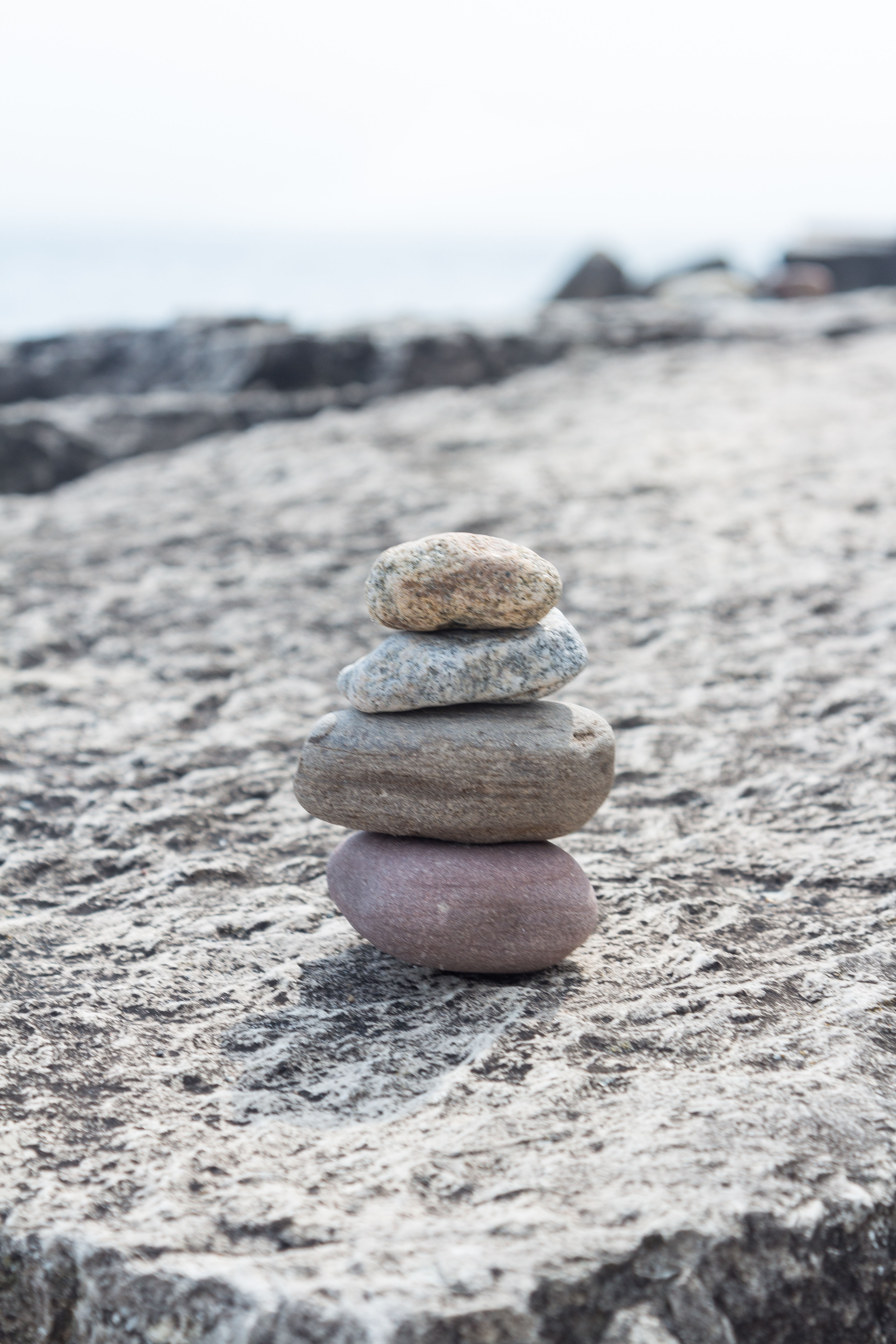 Rock Cairn at the Beach 8.30.16 | https://www.roseclearfield.com