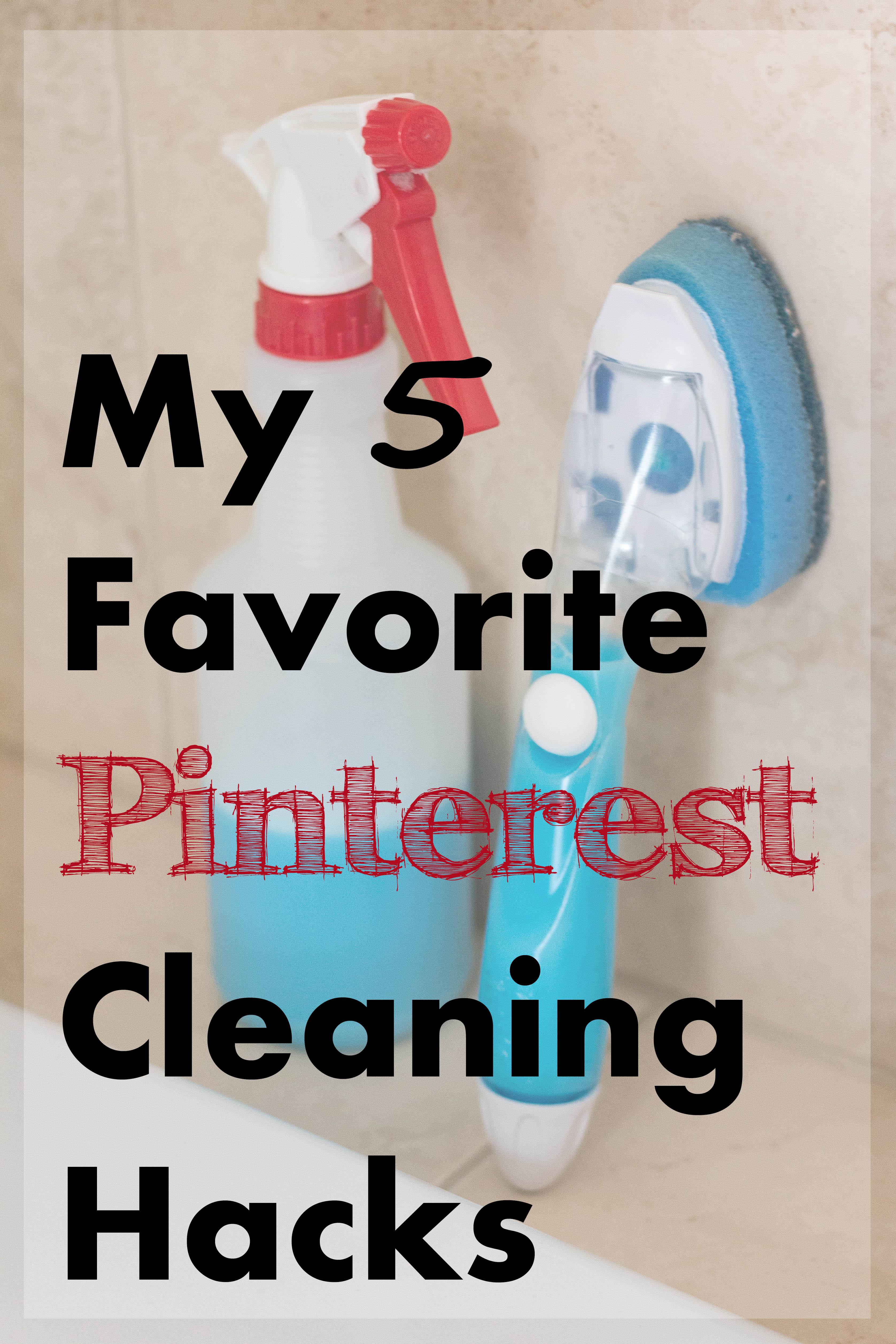 My 5 Favorite Pinterest Cleaning Hacks   https://www.roseclearfield.com