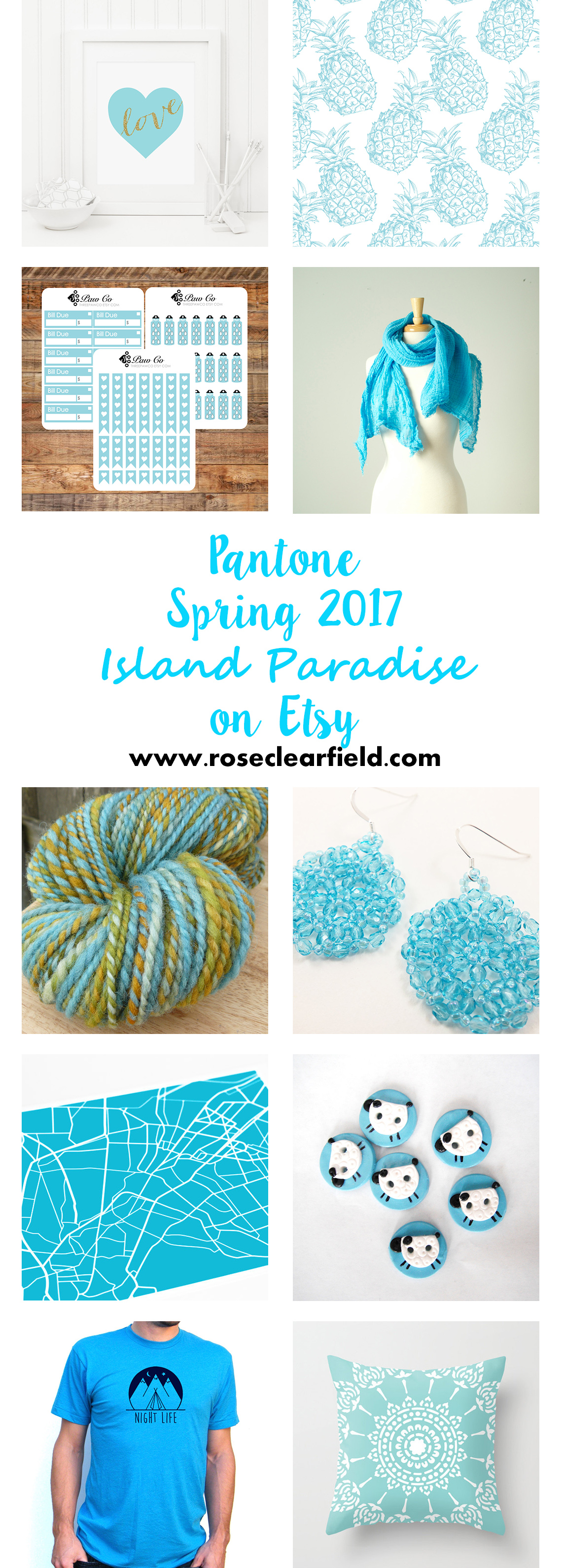 Pantone Spring 2017 Island Paradise Etsy Picks | https://www.roseclearfield.com