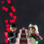Playmobile Wedding Couple With Heart Bokeh | https://www.roseclearfield.com