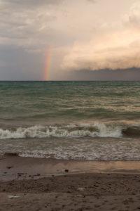 Rainbow Over Lake Michigan | https://www.roseclearfield.com