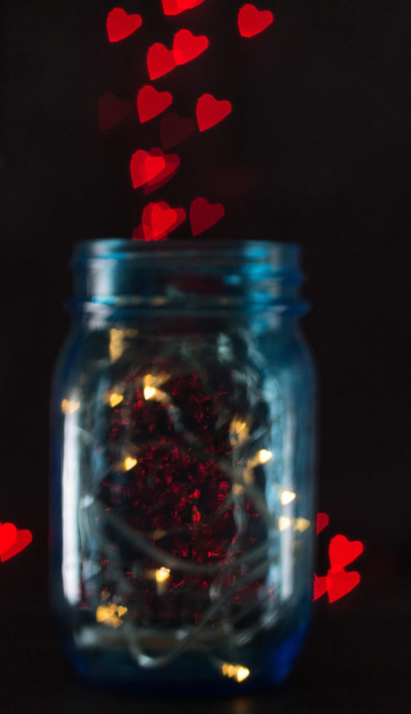 DIY Heart Shaped Bokeh How To For Valentines Day Rose
