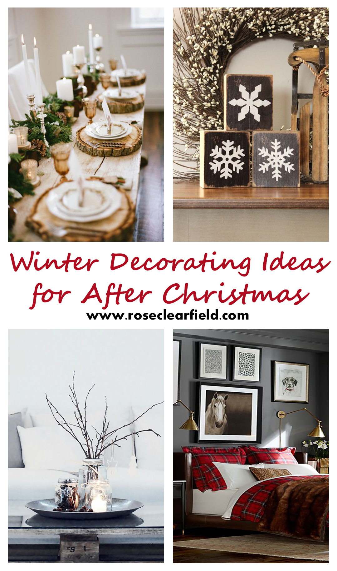 Decorating Ideas For Rentals: Winter Decorating Ideas For After Christmas • Rose Clearfield