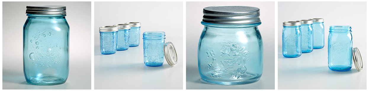 World Market Blue Mason Jars | https://www.roseclearfield.com