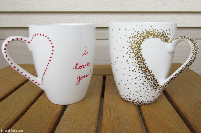 Last-Minute DIY Valentine's Day Ideas - Sharpie Mug Tutorial via Bren Did | https://www.roseclearfield.com