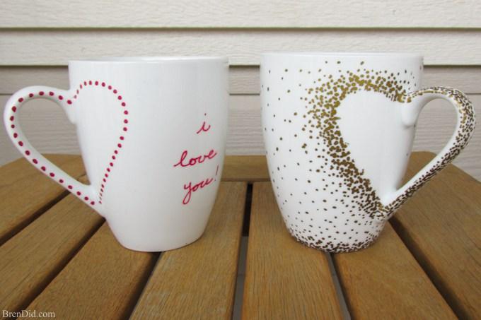 Last-Minute DIY Valentine's Day Ideas - Sharpie Mug Tutorial via Bren Did | https://www.roseclearfield.com