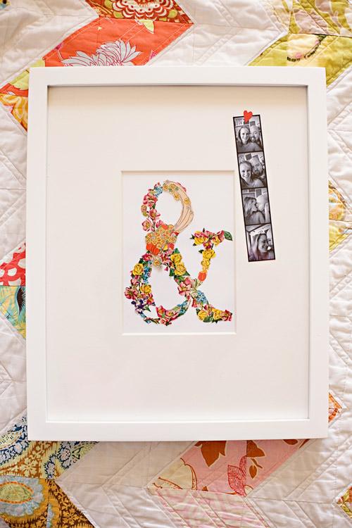 Last-Minute DIY Valentine's Day Gift Ideas - Ephemera Collage via Design Sponge | https://www.roseclearfield.com