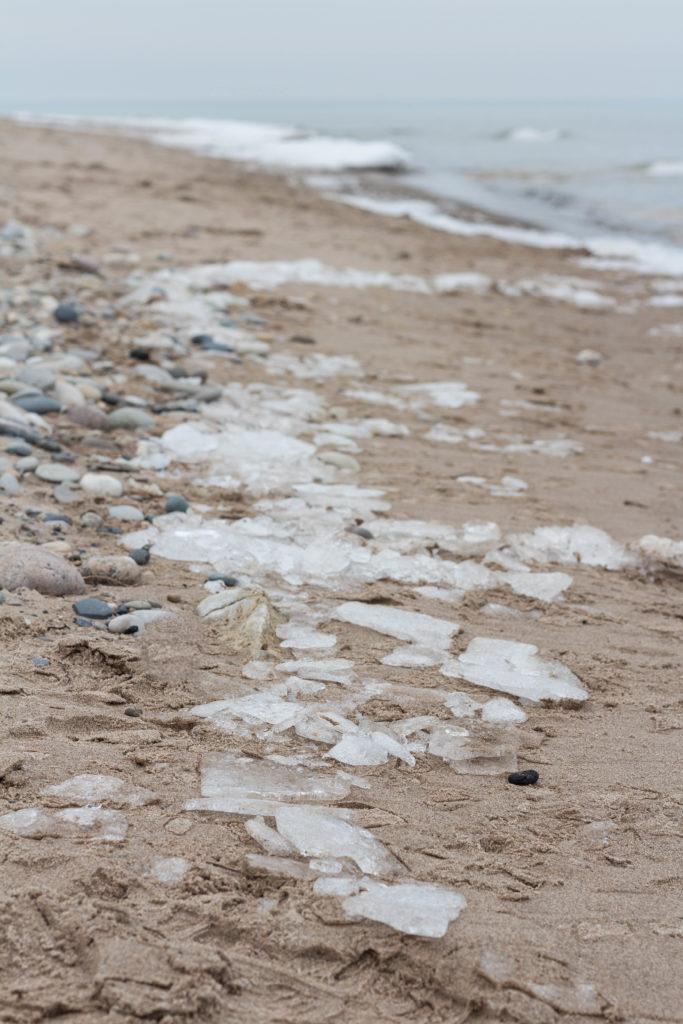 February Lake Michigan Beachfront in Southeast WI | https://www.roseclearfield.com