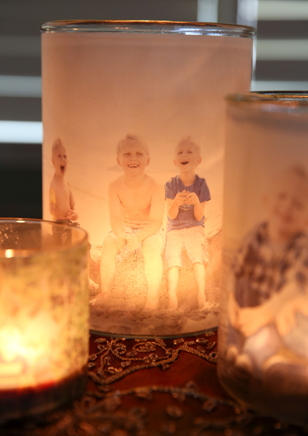 Last-Minute DIY Valentine's Day Gift Ideas - Glowing Family Picture Luminaries via Our Best Bites | https://www.roseclearfield.com