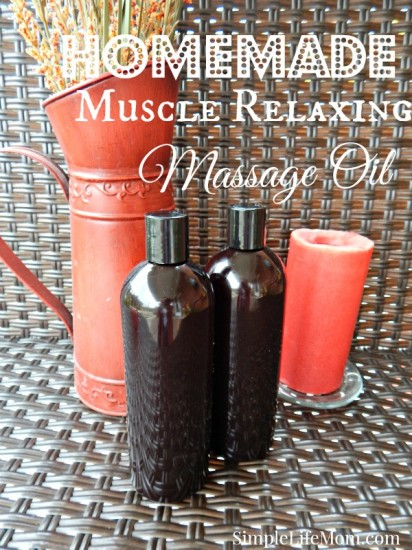Last-Minute DIY Valentine's Day Gift Ideas - Homemade Muscle Relaxing Massage Oil via Simple Life Mom | https://www.roseclearfield.com