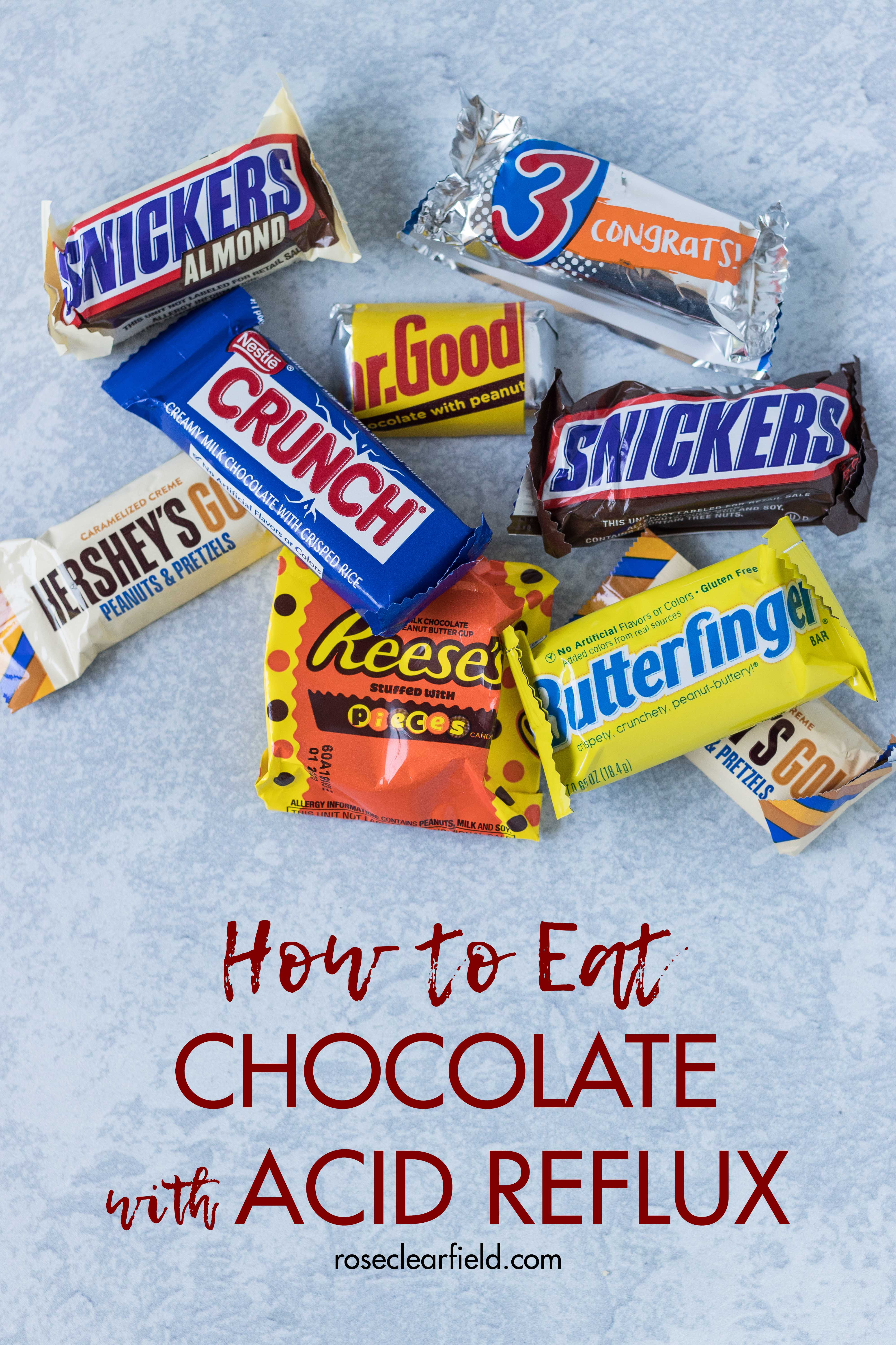 How to Eat Chocolate with Acid Reflux. I share my best tips for fellow acid reflux sufferers. #acidreflux #chocolatewithreflux #acidrefluxtips | https://www.roseclearfield.com