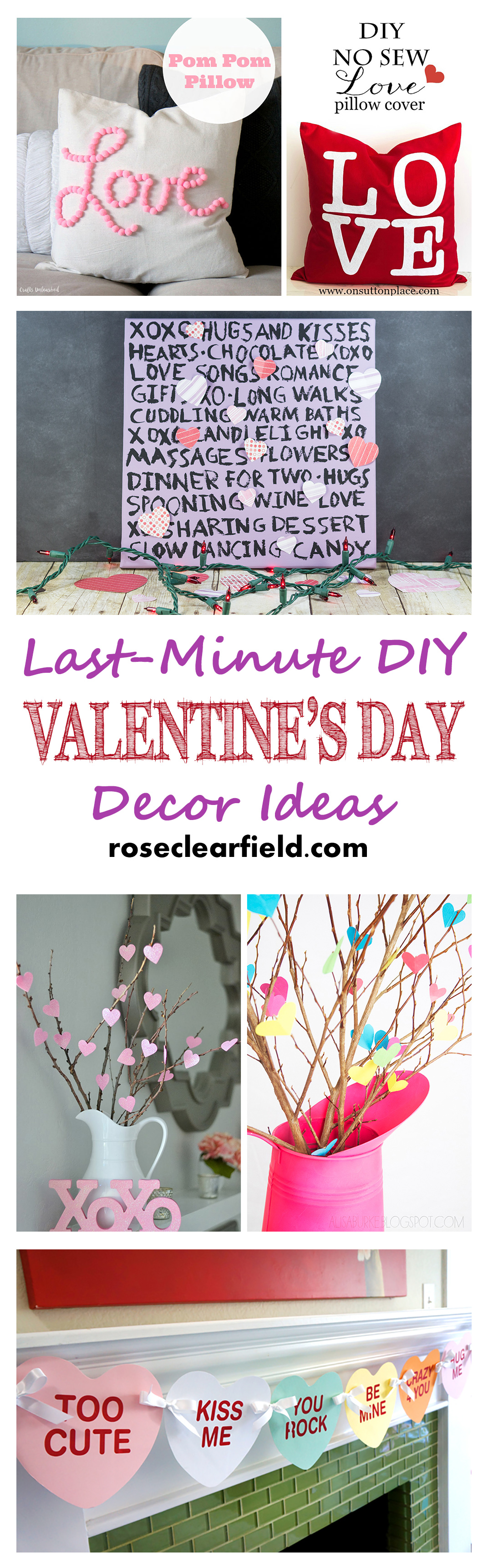 last minute diy valentine 39 s day decor ideas rose clearfield. Black Bedroom Furniture Sets. Home Design Ideas