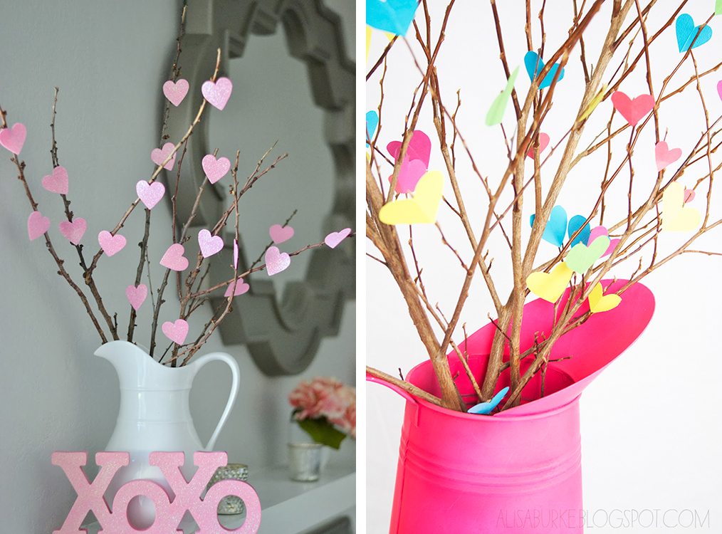 Last-Minute DIY Valentine's Day Decor Ideas - Heart Branches | https://www.roseclearfield.com