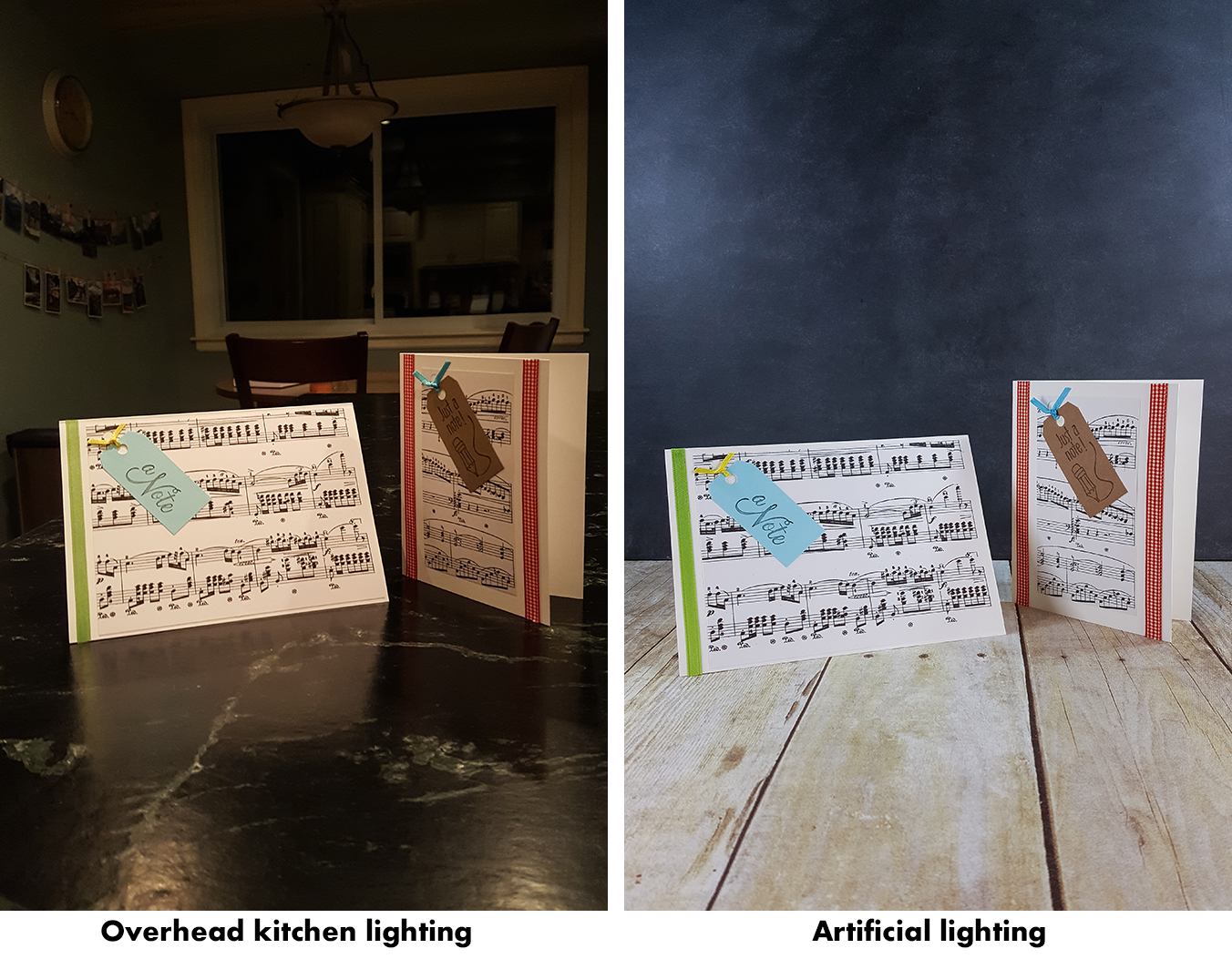How to Take Better Photos for Your Blog With Your Phone - Overhead kitchen lighting vs. artificial lighting. | https://www.roseclearfield.com