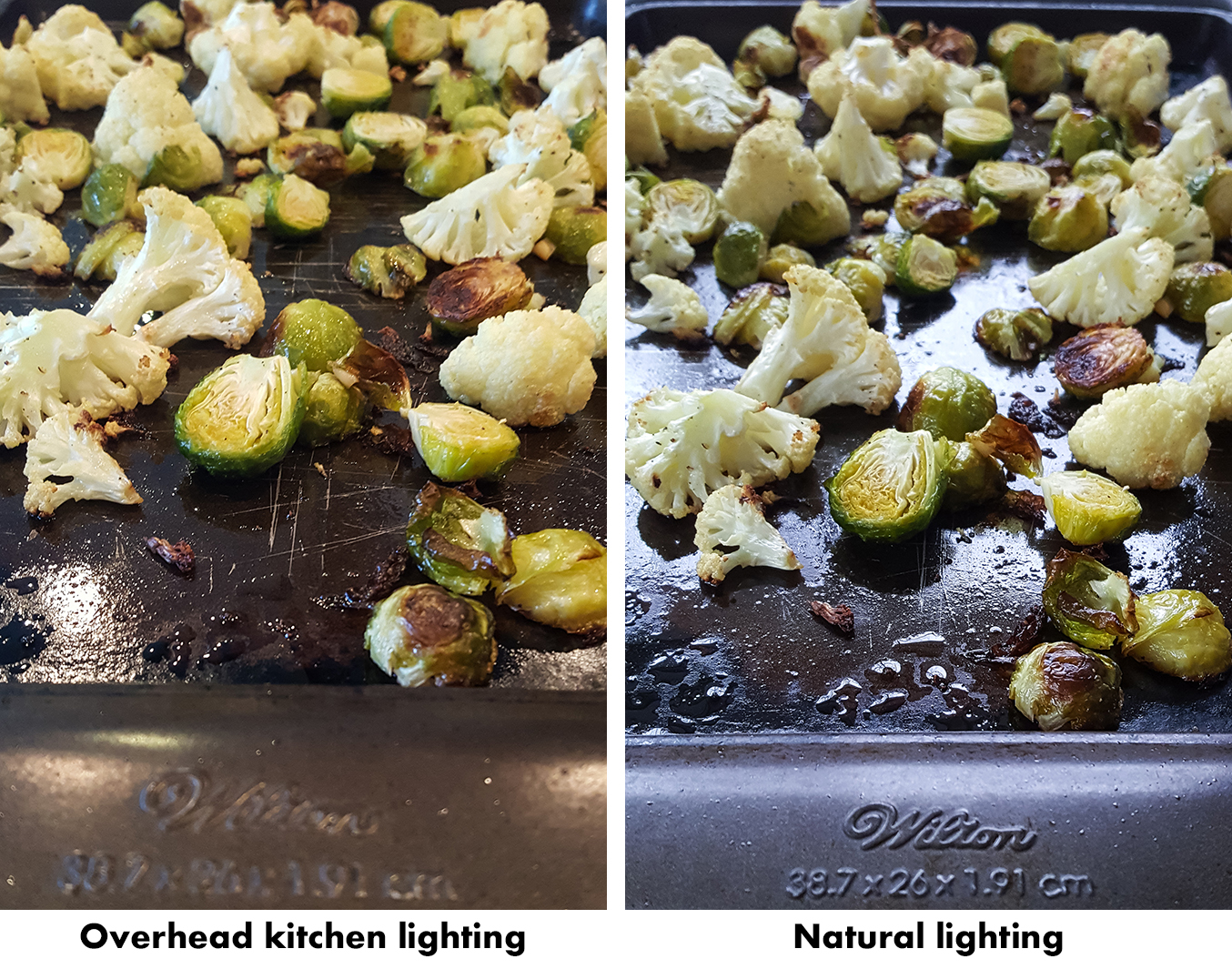 How to Take Better Photos for Your Blog With Your Phone - Overhead kitchen lighting vs. natural lighting. | https://www.roseclearfield.com