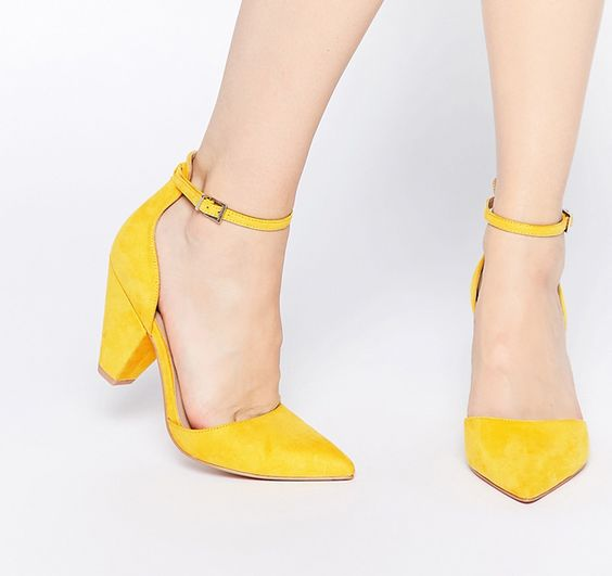 Yellow Heeled Wedding Shoes
