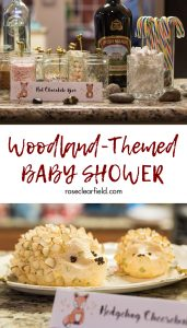 Woodland-themed baby shower. Perfect shower theme for a boy or a girl, any time of the year! #babyshower #woodlandtheme #animalparty