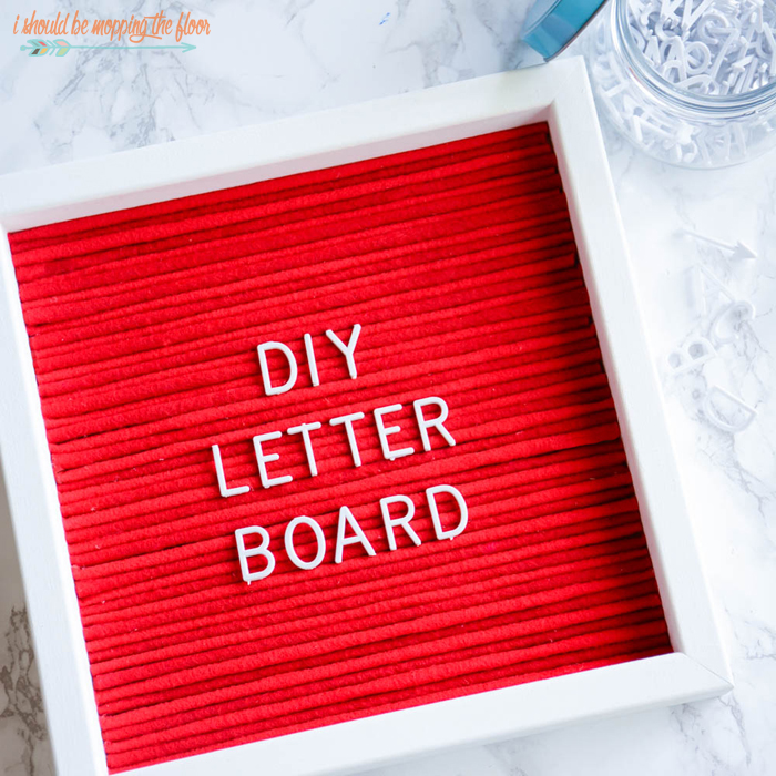 Last-Minute DIY Valentine's Day Gift Ideas - DIY Letter Board via I Should Be Mopping the Floor | https://www.roseclearfield.com