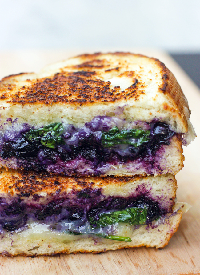 Balsamic Blueberry Grilled Cheese via Best Friends for Frosting | https://www.roseclearfield.com