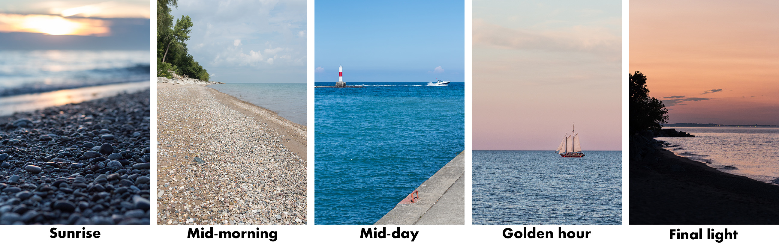 Beach Light Progression Over the Day | https://www.roseclearfield.com