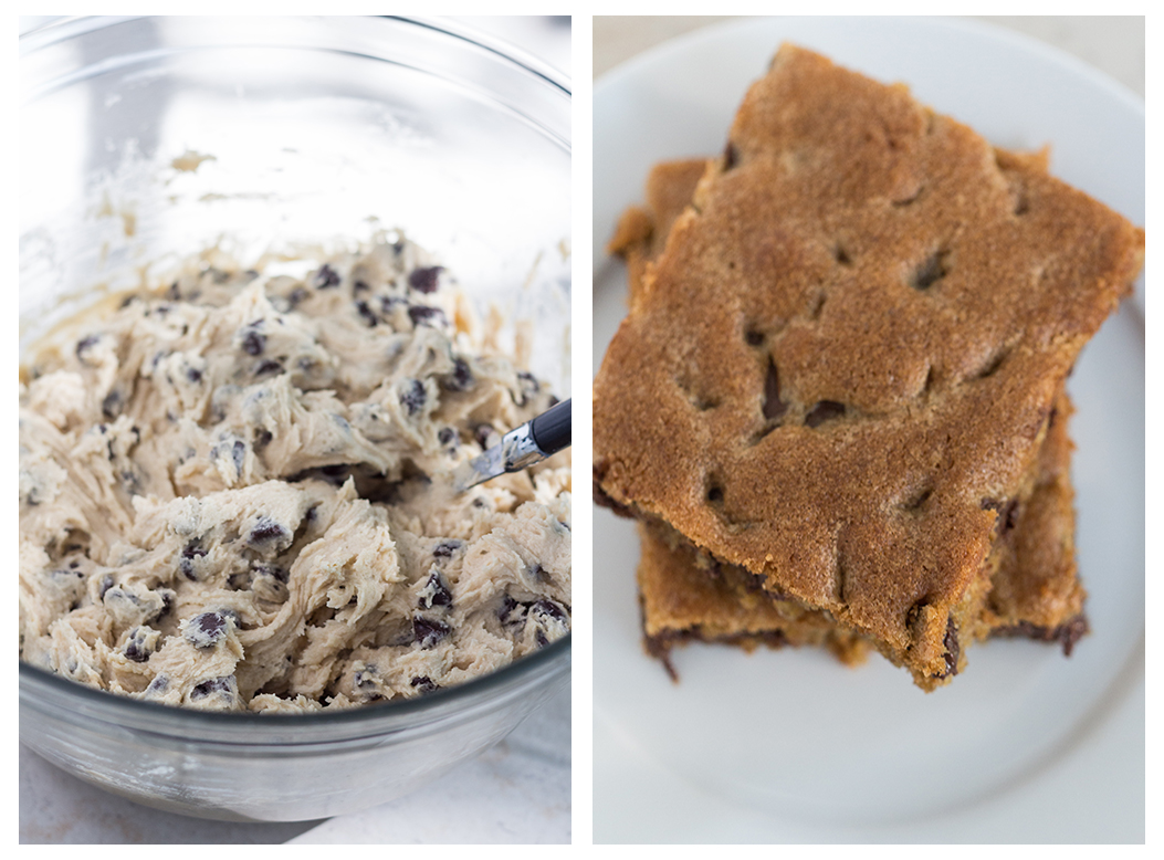 Homemade Chocolate Chip Cookie Bars | https://www.roseclearfield.com