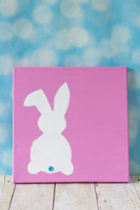 DIY Easter Bunny Canvas Wall Art | https://www.roseclearfield.com