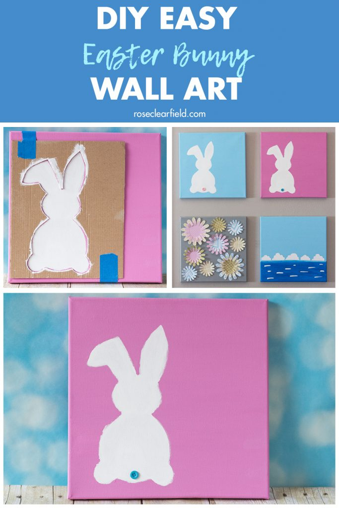 DIY Easy Easter Bunny Wall Art