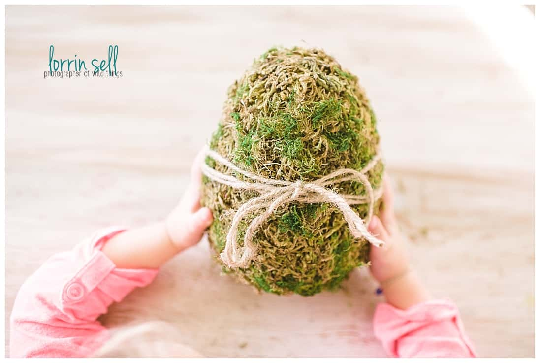 DIY Moss Covered Eggs via Itty Bitty by Lorrin | https://www.roseclearfield.com