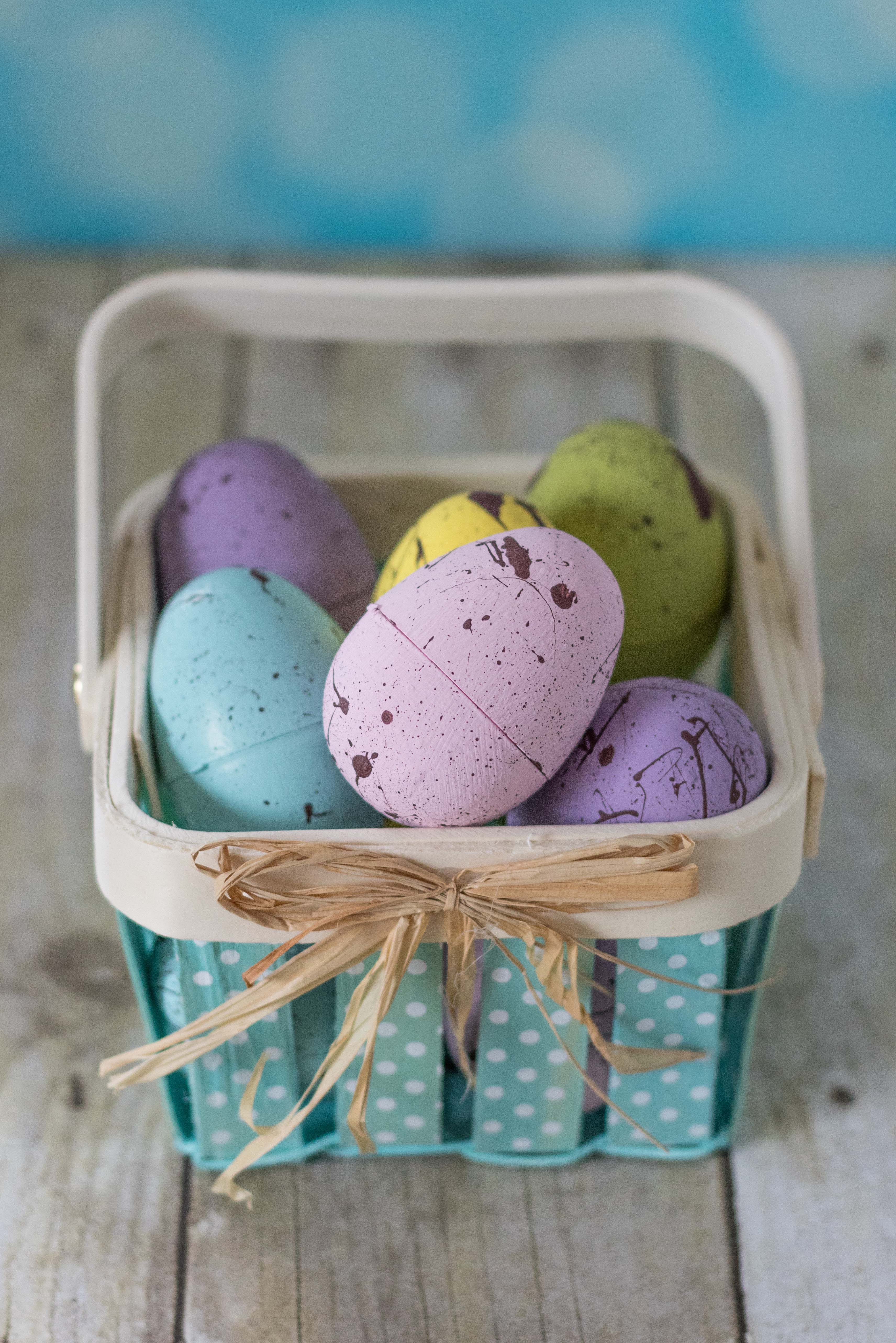 DIY Pastel Painted Speckled Plastic Easter Eggs O Rose Clearfield
