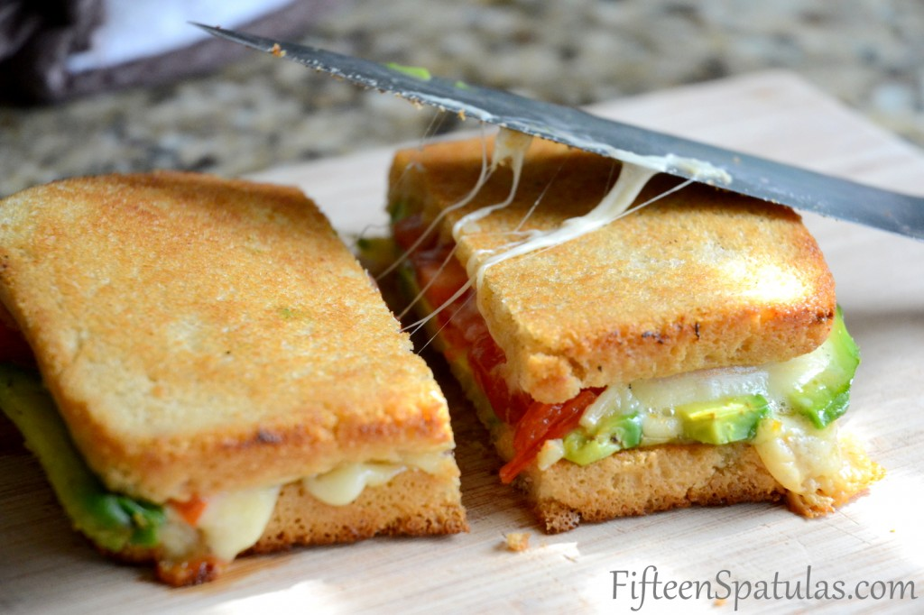 Grilled Cheese with Avocado and Heirloom Tomato via Fifteen Spatulas | https://www.roseclearfield.com