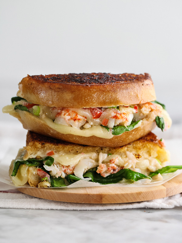 Kennebunkport Grilled Cheese Sandwich via Foodie Crush | https://www.roseclearfield.com