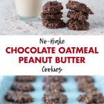 No-Bake Chocolate Oatmeal Peanut Butter Cookies