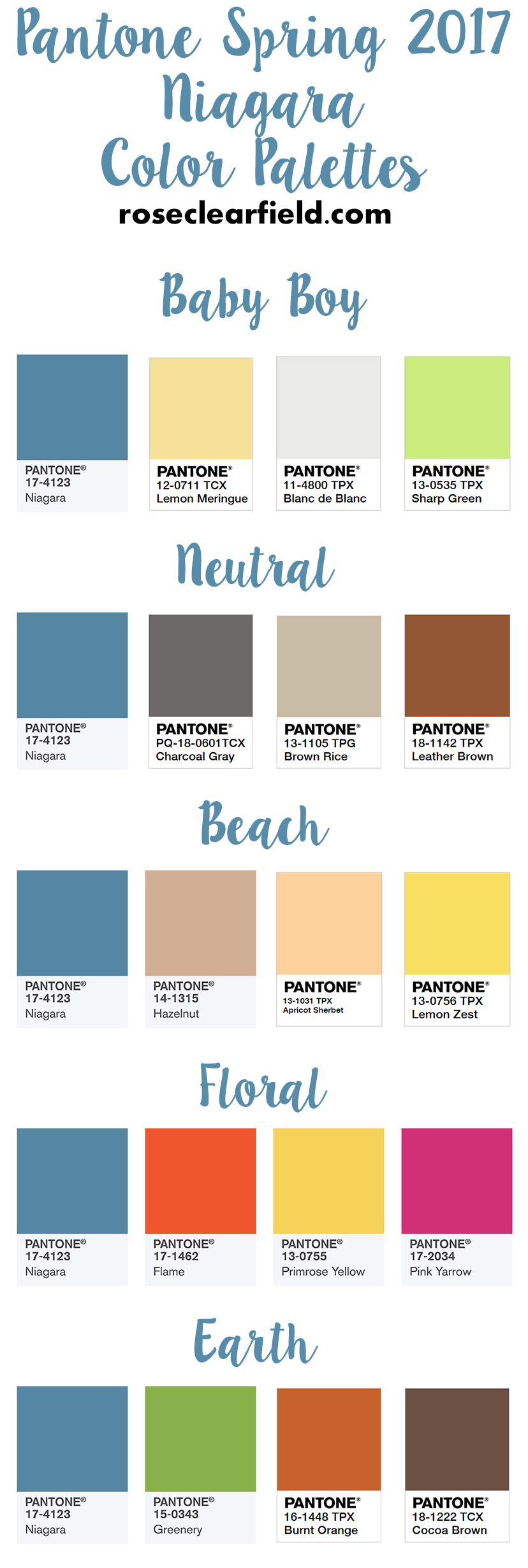 Pantone Spring 2017 Niagara Color Palettes   https://www.roseclearfield.com
