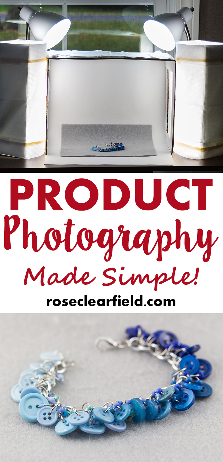 Product photography made sample! Start improving your Etsy shop and blog photos today. | https://www.roseclearfield.com