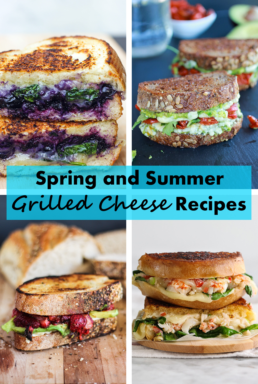 Spring and Summer Grilled Cheese Recipes | https://www.roseclearfield.com