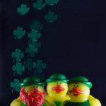 DIY Shamrock Shaped Bokeh for St. Patrick's Day with Rubber Ducks | https://www.roseclearfield.com