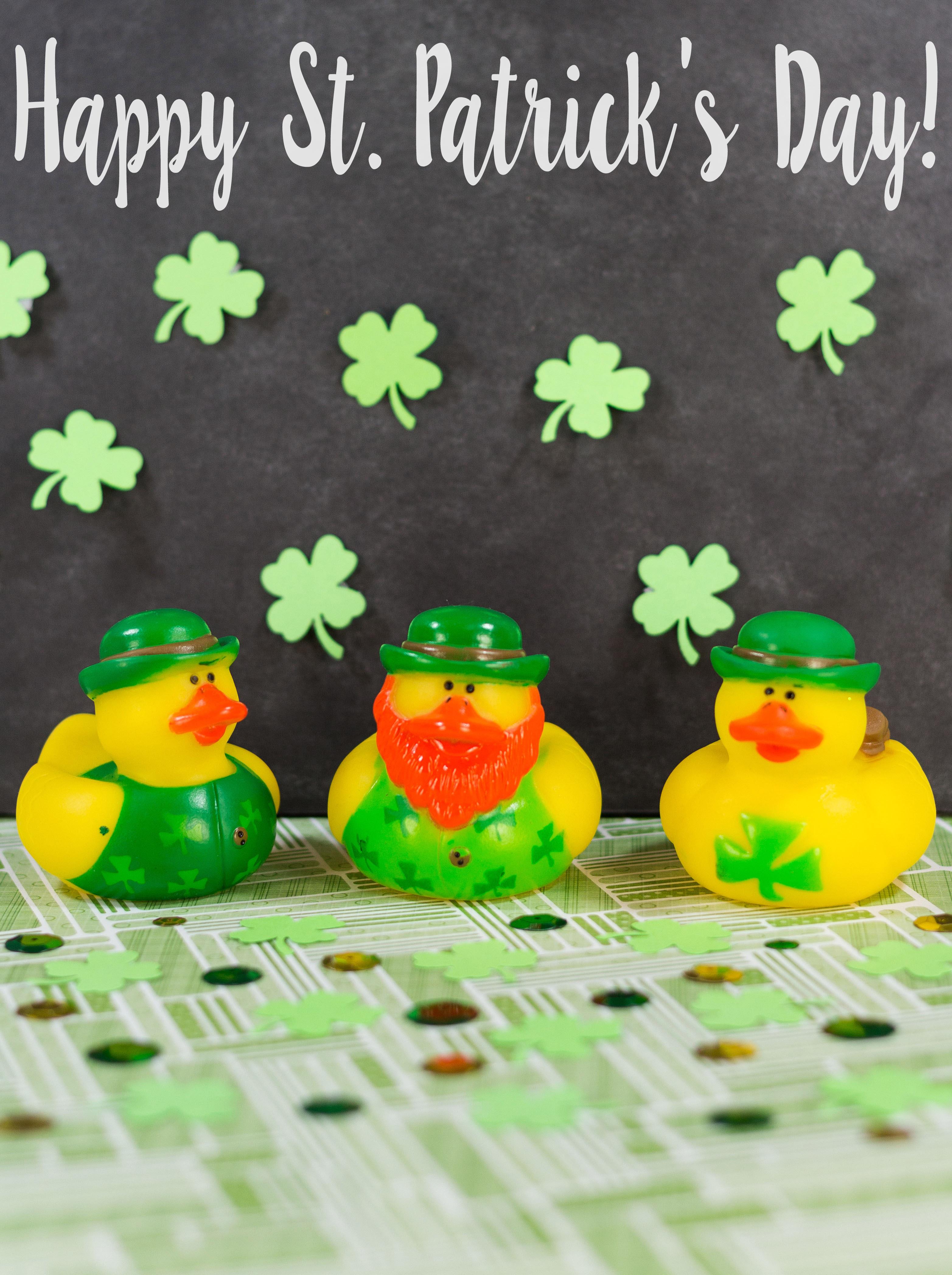 Happy St. Patrick's Day Rubber Ducks | https://www.roseclearfield.com