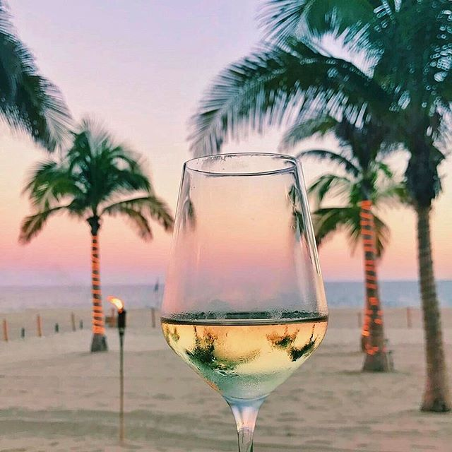 Wine in Los Cabos Mexico at Golden Hour by Kelsbrianne | https://www.roseclearfield.com