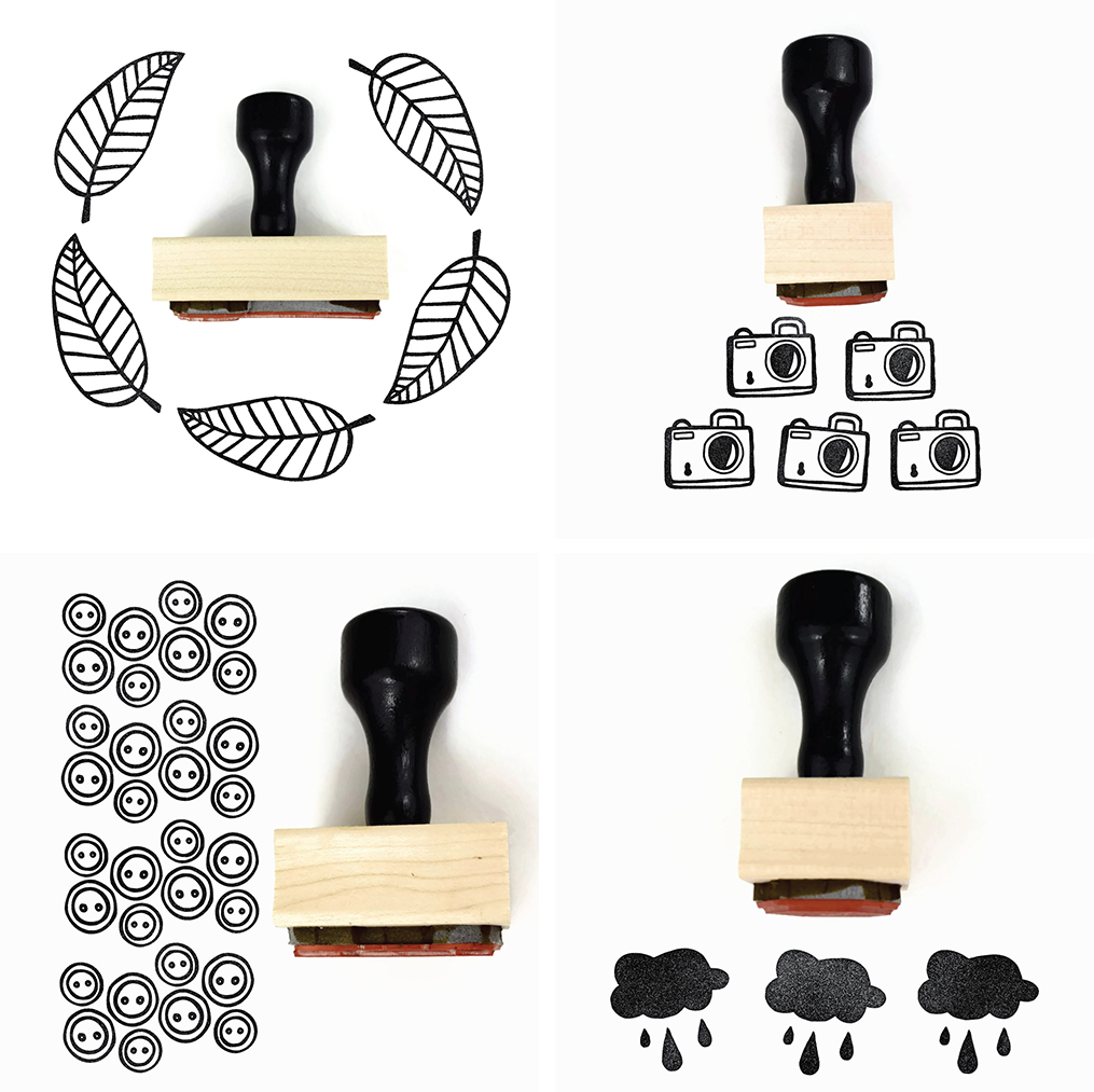 creatiate rubber stamps collage | https://www.roseclearfield.com