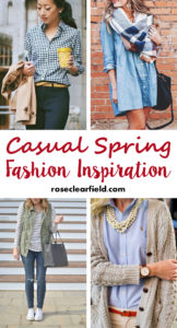 Casual Spring Fashion Inspiration | https://www.roseclearfield.com