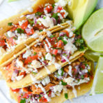 Cinco de Mayo Party Food Ideas - Weeknight Chicken Tacos via How Sweet Eat