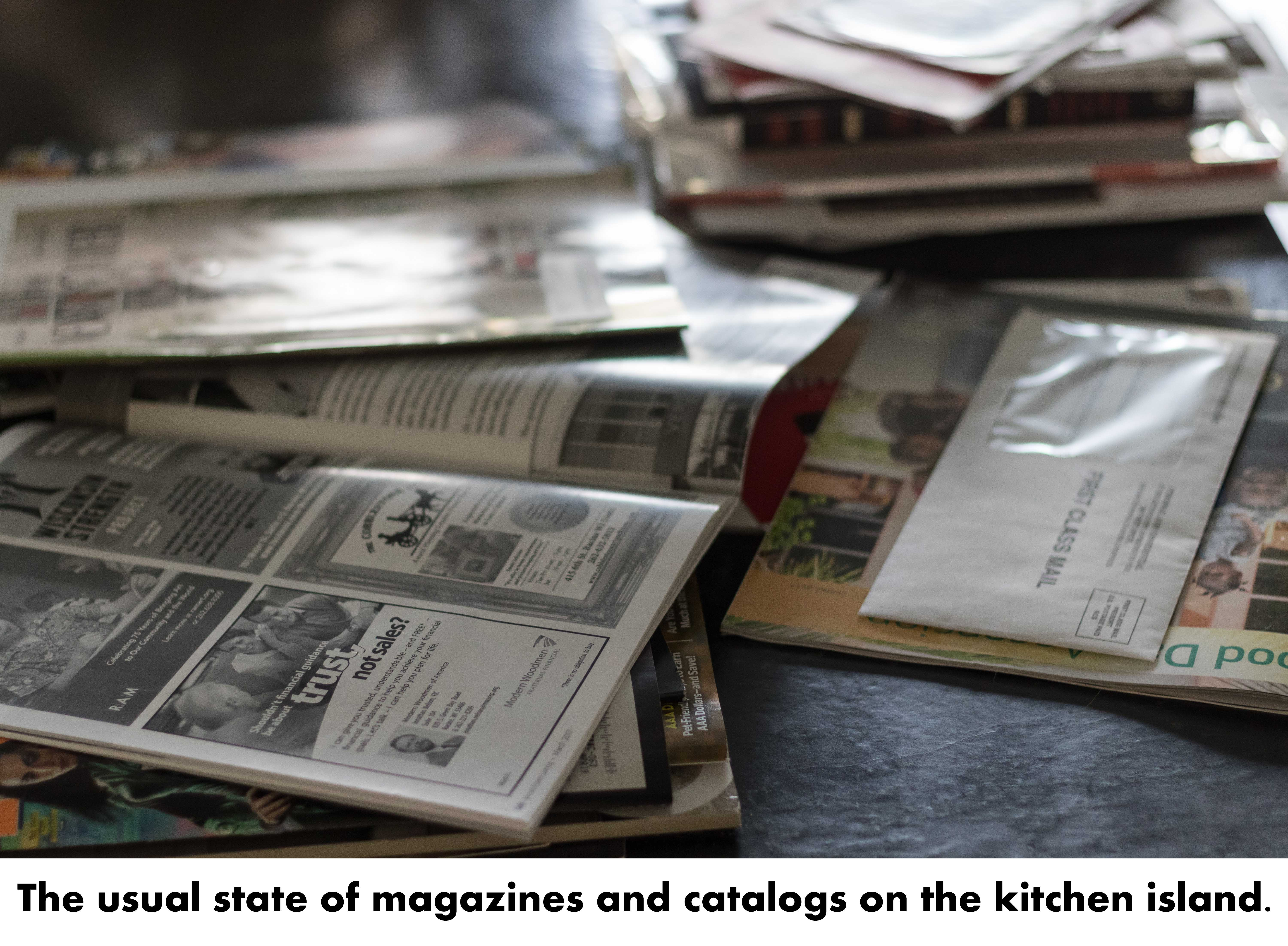 Cluttered Magazines and Catalogs